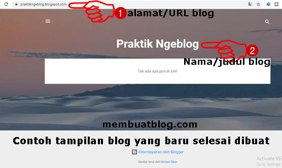 Gambar Contoh Tampilan Blog Baru