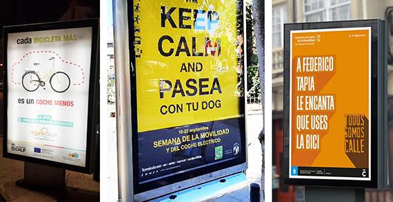 Mupi semana movilidad Calpe Calp Torrelodones Coruña