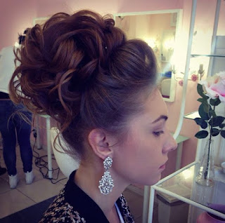 Big updo for long hair