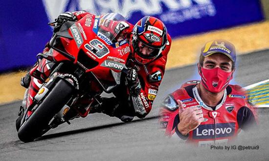 MotoGP Prancis: Petrucci Juara, Rossi Terjatuh dan Keluar Lomba