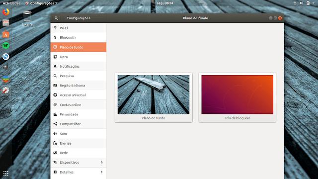 Como trocar o papel de Parede no Ubuntu