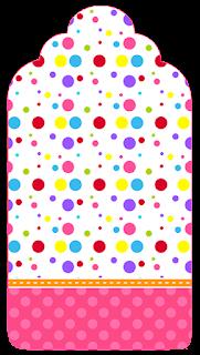 Para marcapáginas de Puntos de Colores para Niña.