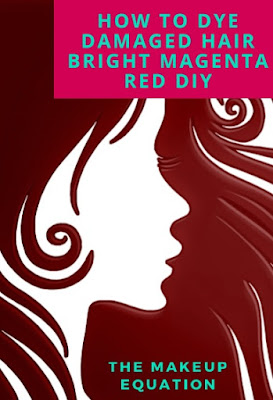 How to Dye Damaged Hair Bright Magenta Red DIY