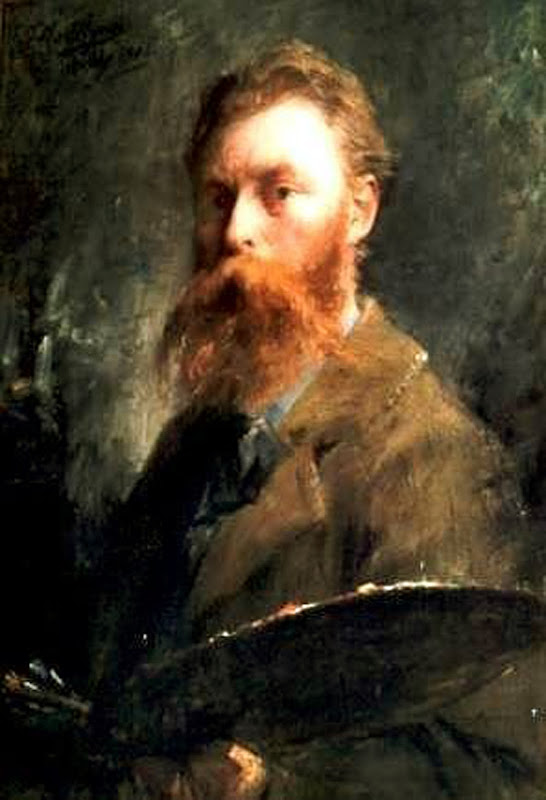 Frans Mortelmans, Self Portrait, Portraits of Painters, Fine arts, Portraits of painters blog, Paintings of Frans Mortelmans, Painter Frans Mortelmans