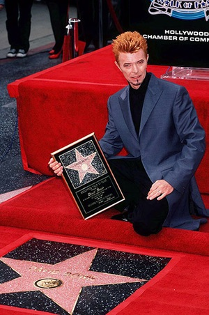 David Bowie receiving his Star on the Hollywood Wak of Fame, Getty Images