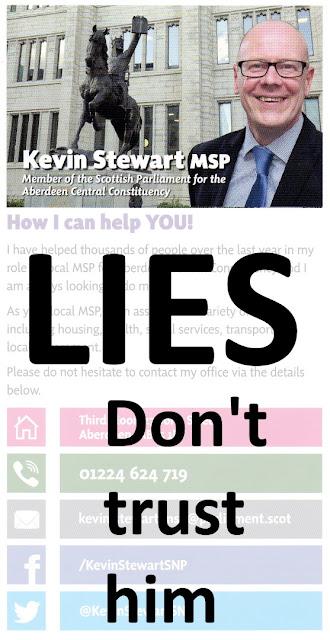 Kevin Stewart LIES!