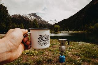 Mug and coffee outside