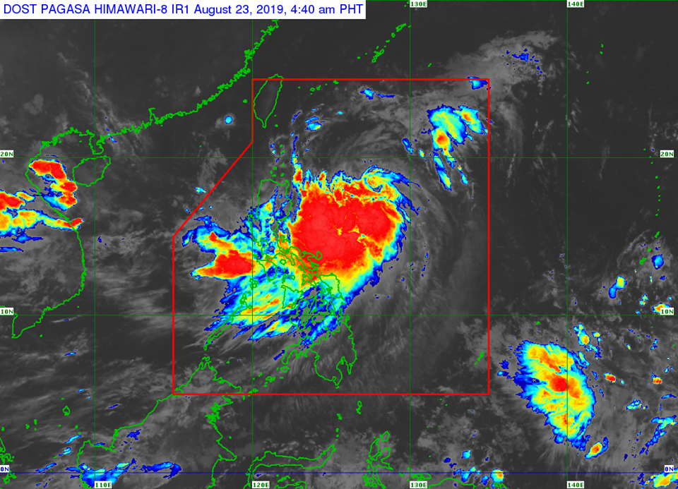 Satellite image of Severe Tropical Storm Ineng as of 4:40am, August 23