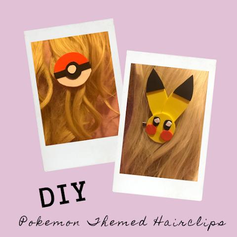 How to Make DIY Pokemon Themed Hair-clips! DIY Pokeball and Pikachu Hairclips