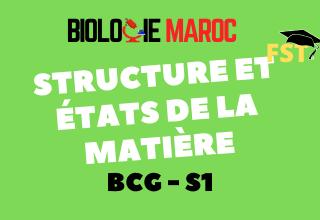 Structure et états de la matière Cours+TD+Examens BCG S1 PDF