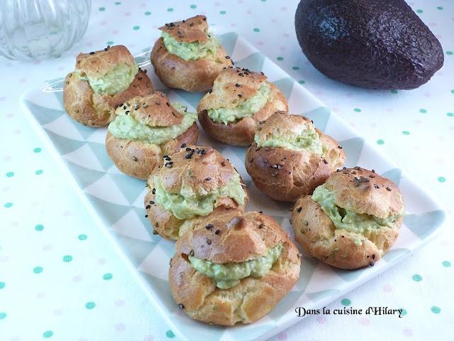 Petits choux au guacamole et au crabe - Dans la cuisine d'Hilary