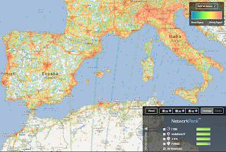 Mappa Europea Copertura Segnale (clicca per ingrandire)