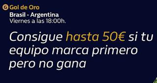 william hill Promo Gol de Oro Brasil vs Argentina 15-11-2019