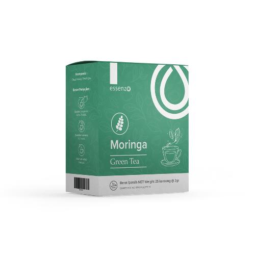 Moringa Green Tea Teh Kesehatan Perpaduan Green Tea dan Ekstrak Daun Kelor