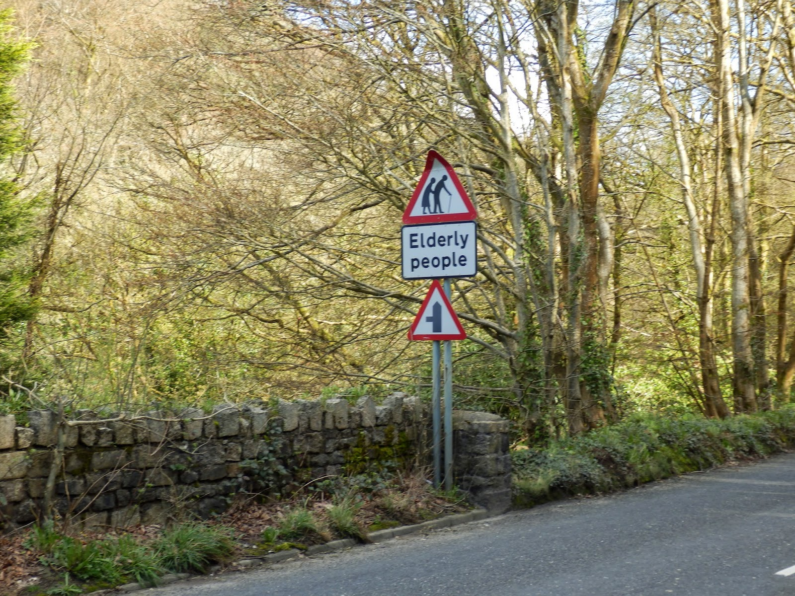 Elderly People road sign near Menacuddle Holy Well