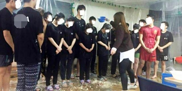 Novatada en la universidad coreana Dong-a de Busan