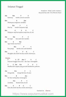 chord lagu selamat tinggal band five minutes