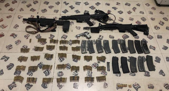 Detienen SSP y Sedena a 3 personas en posesión de 4 armas, 315 cartuchos y 15 cargadores