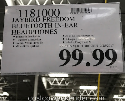 Deal for the Jaybird Freedom Wireless Sport Headphones at Costco