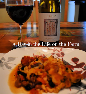 CARE wine with Chicken Mexican Bake