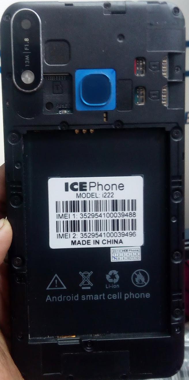 ICE PHONE i222 FLASH FILE MT6580 FIRMWARE