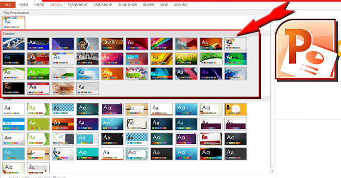 34+ Powerpoint custom themes dan video tutorial cara install.