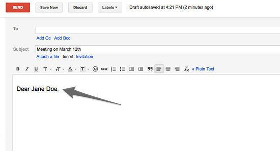 Mahi Raman: Structure And Format For Writing An Email