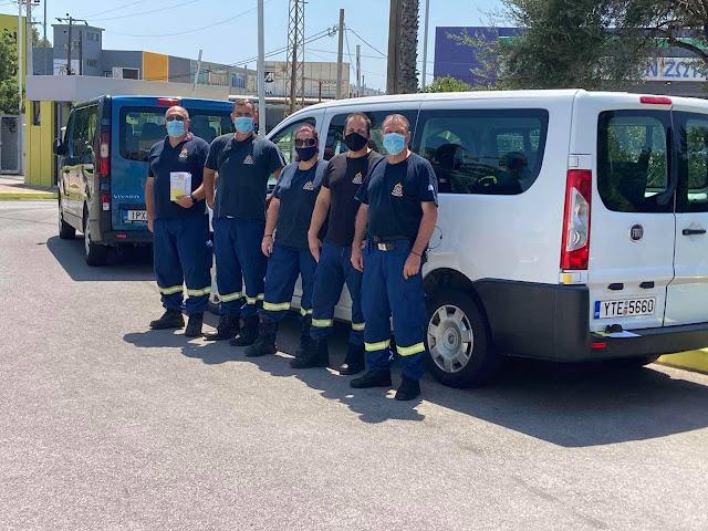 5 οχήματα για τη μεταφορά των πυροσβεστών, διέθεσε η θεσπρωτική εταιρία Europrawn Hellas