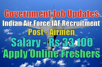 Indian Air Force Recruitment 2020