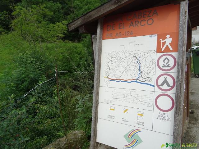 Cartel informativo Ruta Cabeza de el Arco, PR-AS 124