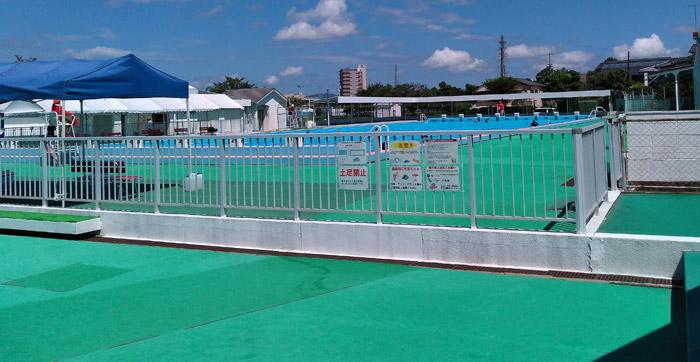 田宮公園プール 競技用の50mプール
