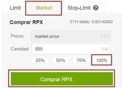 Comprar Red Pulse (RPX) en Binance y Coinbase y Guardar en Wallet