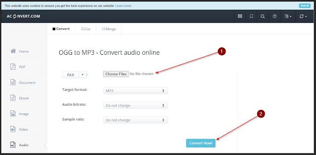 Convert ogg to mp3 online