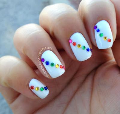 Rainbow-Rhinestones-Nail-Art