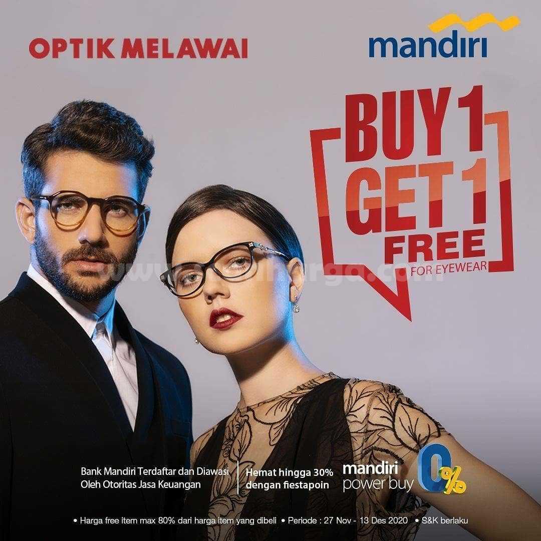 Optik Melawai Promo Buy 1 Get 1 Free For Eyewear Dengan Kartu Kredit/Debit Mandiri