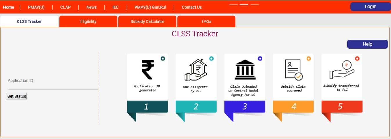 CLSS Awas पोर्टल (CLAP) - ट्रैक PMAY शहरी ब्याज सब्सिडी आवेदन CLSS Awas Portal (CLAP) – Track PMAY Urban Interest Subsidy Application