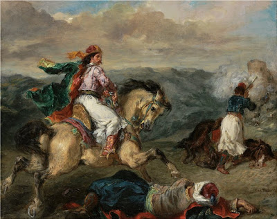 eugene_delacroix Επεισόδιο του Ελληνικού Αγώνα, 1856