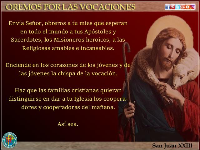 Resultado de imagen de oracion por las vocaciones sacerdotales y religiosas