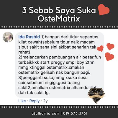Testimoni OsteMatrix: 3 Sebab Kenapa Suka OsteMatrix Shaklee