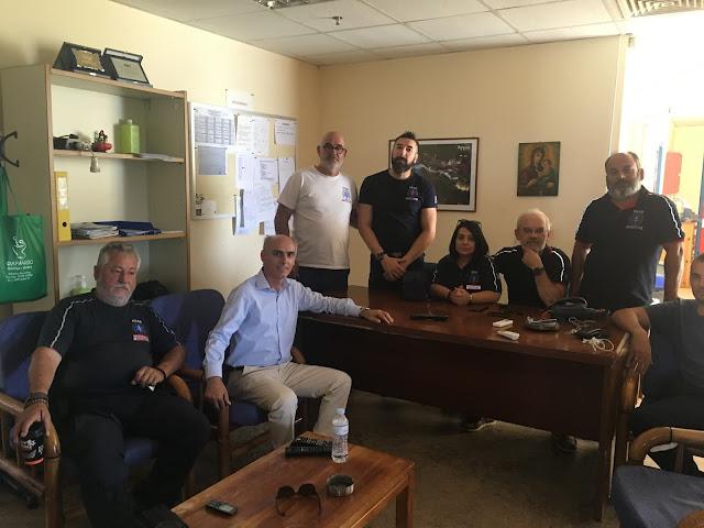 Επίσκεψη στο ΕΚΑΒ του υποψήφιου βουλευτή ΣΥΡΙΖΑ Γιώργου Γαβρήλου