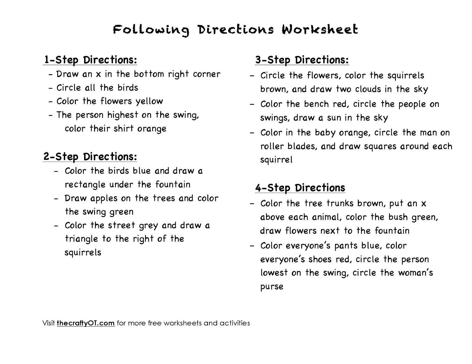 worksheet Free Therapy Worksheets the crafty ot free spring worksheets worksheets