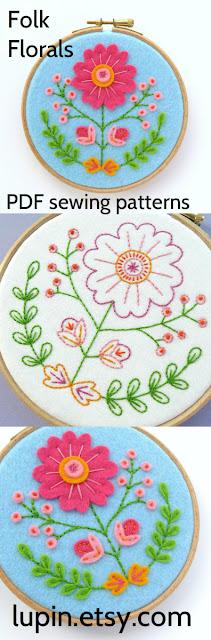 Folk Florals PDF Pattern
