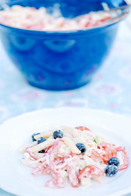 Sommerlicher Nudelsalat, Pomponetti
