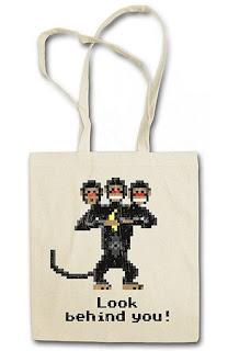 Bolso Monkey Island - Mono de tres cabezas