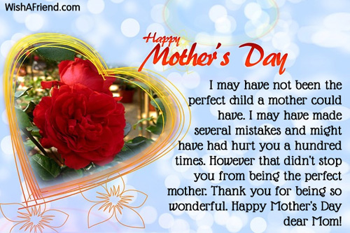 Happy Mother\u0027s Day Messages 2018 \u2013 Mother Day Card Messages with - mother sday cards