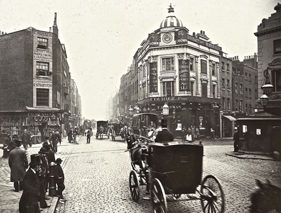 London streets old picture