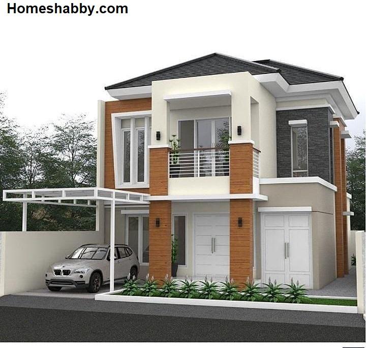 Desain Dan Denah Rumah Minimalis Ukuran 11 X 21 M 2 Lantai Dengan Konsep Natural Modern Homeshabby Com Design Home Plans Home Decorating And Interior Design