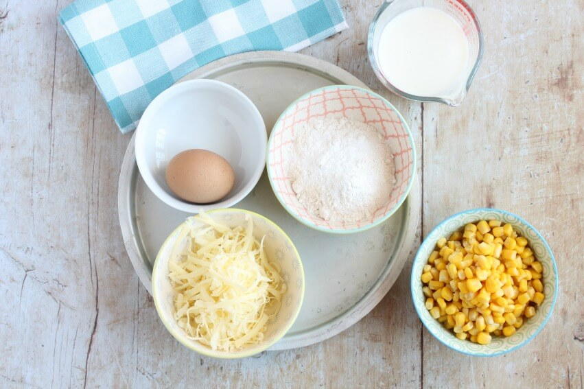 Sweetcorn fritter ingredients