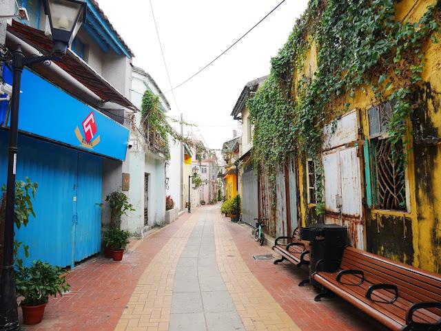 old town coloane macau painted buildings