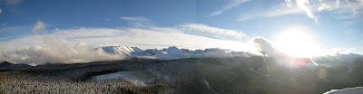 Panorama z Kopieńca Wielkiego na południe.
